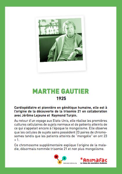 Atelier - Découvreuses anonymes - Marthe Gautier