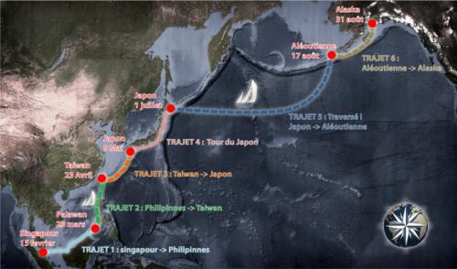 Trajet de l'expédition Pacifique 2015 (site de l'association)