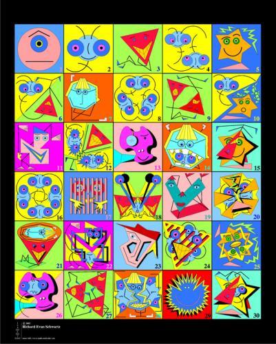 Des monstres pour apprendre à compter et composer avec les chiffres... Thanks to Richard Schwartz !