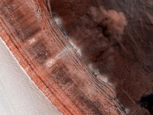Avalanche sur Mars