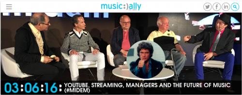 Une photo prise lors d'une conférence sur le futur de la musique