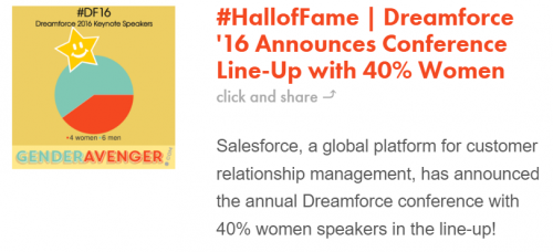Un exemple de #HallofFame qu'épingle Genderavanger